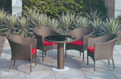 Comlimentary Style Outdoor Wicker Coffee Set