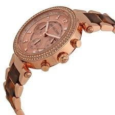 4c77a4db8ad4 Michael Kors Women  s MK5538 Parker Brown Crystal-Accented Wa at Rs ...