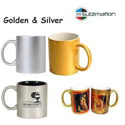 Golden Gold Photo Printing Ceramic Coffee Mugs Sublimation