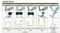 LOGIFORM Standard Guide rails, Size: Custom design