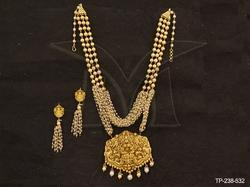 Designer Bollywood Temple Jewellery Necklace Set