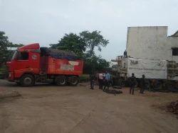 Hydraulic axle trailer transport