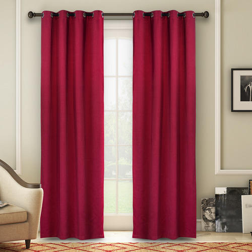 Maroon Plain Curtains At Rs 185 Piece