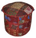 Indian Traditional Home Decorative Multi Ottoman Pouf Cover