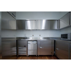 Stainless steel modular kitchen price in kerala kitchen for Aluminium kitchen cabinets in chennai