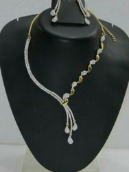 American Diamond Necklace Set in Hyderabad, Telangana | Get Latest