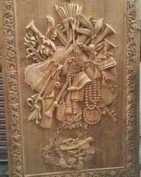 MBK Carving Indian Wood Single Door
