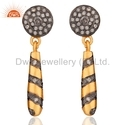 Handmade Pave Diamond Earring