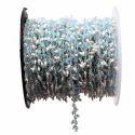 Aqua Chalcedony with Pearl Gemstone Cluster Chain