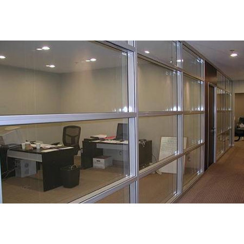 Glass Partition With Patch Fittings - Toughened Glass Door