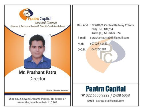 Employee Id Card At Rs  Piece  Id Card  Gurukrupa Printmagic