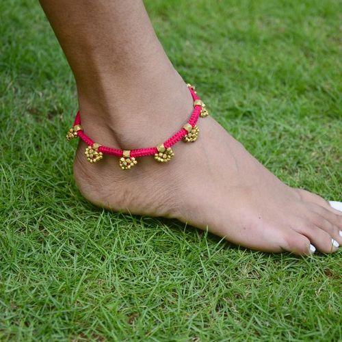 United Gold Colour Beaded Multistrand Anklet Jewelry & Watches Anklets