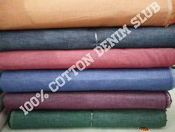 100% Cotton Denim Slub Fabric