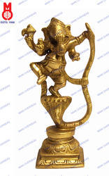 Ganesh Dancing On Snake