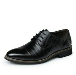 Brouge Genuine Leather Shoes With TPR Sole