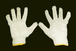 35gm White Cotton Knitted Hand Gloves