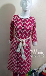 Cotton Kurti With Belt