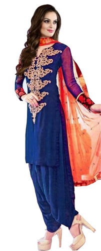 Wedding Wear Patiala Salwar Suits With Neck Design Rs 379 Piece
