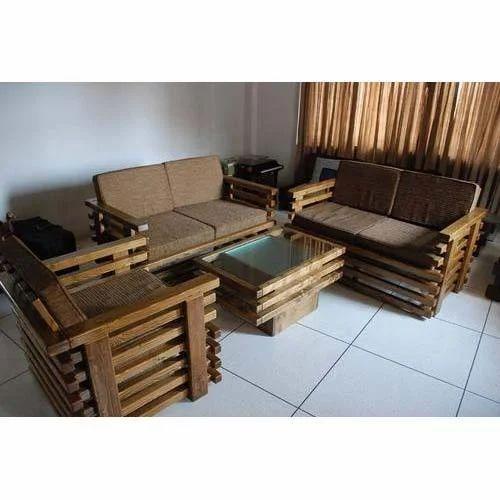Fancy Wooden Sofa Set, Wooden Sofa Set