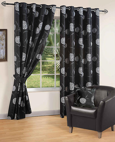 Designer Curtains Opera Black Silver Fancy Curtains