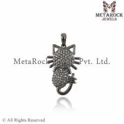 Pave Diamond Animal Charm Pendant