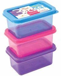 Plastic Rectangular Airtight Container Set