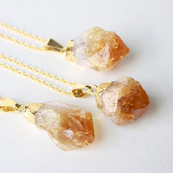 Nanplanetsilver Citrine Raw Crystal Necklace