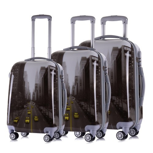 a2ea7dced Tramp   Badger Polycarbonate 3 Piece Trolley Bag Set