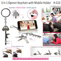 3 in 1 Opener Keychain with Mobile Holder 513