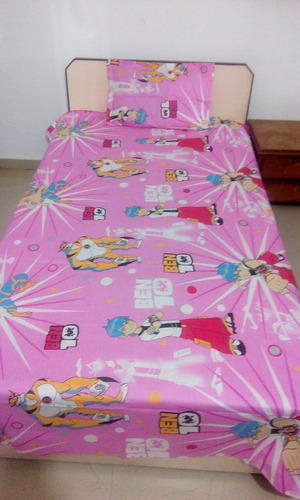 e3fed45155 Multicolor 100 % Cotton Single Bedsheet With 1 Pillow Covers 90x55 Inch,  Size: 90