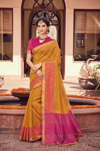 Pure Silk Wedding Wear And Bridal Kanchipuram Saree With Blouse Piece