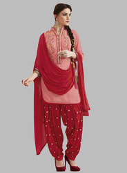 Unstitched Georgette Patiala Suit