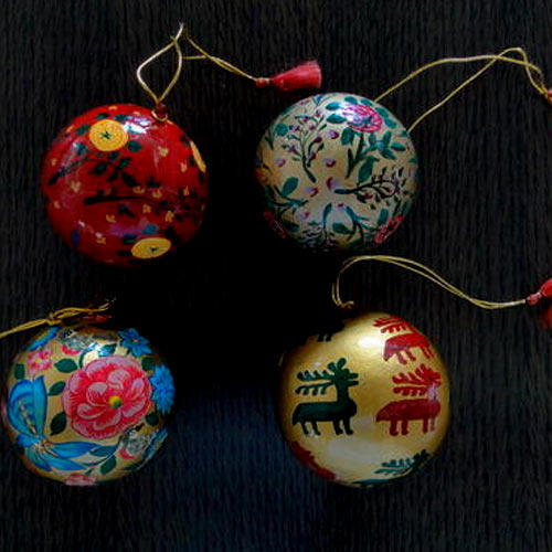 Paper Mache Christmas Ornament.Christmas Ball Paper Mache Christmas Tree Ball Xmas Balls