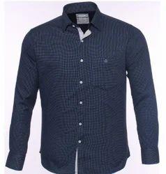 Blue Printed Cotton Shirt