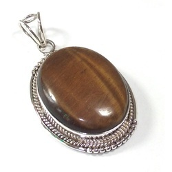 Tiger Eye Sterling Silver Gemstone Pendant