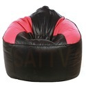 Leatherette Pink and Black Combination Mudda Sofa Bean Bag, Size: XXXL
