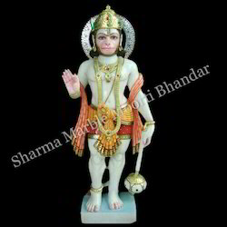 Lord Hanuman Marble Sculpture
