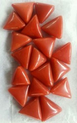 Natural Italian Red Coral Triangle
