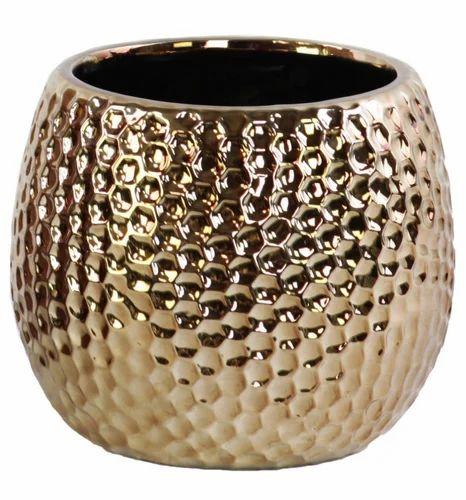 Hammered Brass Vase Chrome Polish Size Small Medium Large Rs 1000