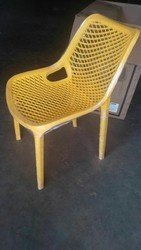 Armless Yellow Fiber Chairs