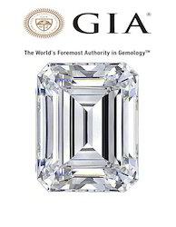 GIA Certified Real Emerald Cut Diamond