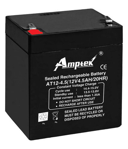 12 volt 4 5ah amptek smf battery at rs 640 piece s. Black Bedroom Furniture Sets. Home Design Ideas