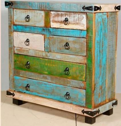 Reclaimed Wood Drawer Chest Furniture India