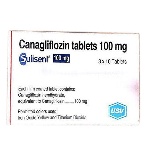 Pharmaceutical Medicine Sulisent 100 Mg Canagliflozin