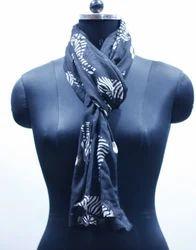 EGSC0007 Zebra Print Cotton Scarf