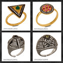 CZ Gemstone Rings Collection