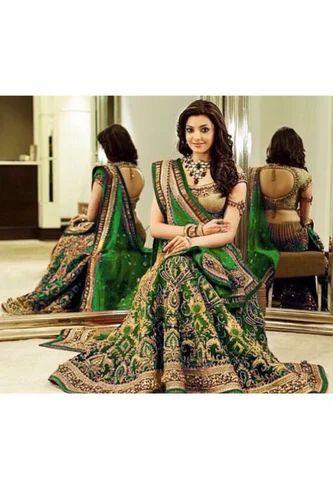 7e0a6a489d0a Unstitched Festive Wear Bridal Wedding Wear Stylish Green Lehenga Choli