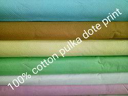 Cotton Polka Dot Shirting Fabric