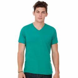 Mens Cotton V Neck T Shirt, Size: M-XL