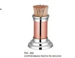 Copper Brass Tooth Pick Holder